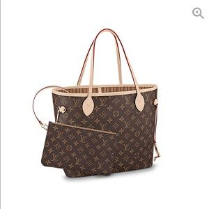 Louis Vuitton Neverfull MM & clutch